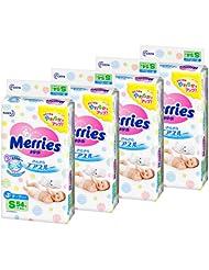 日亚: kao 花王 Merries 婴儿纸尿裤 S号 54片*4包 2576日元(约148.38元)