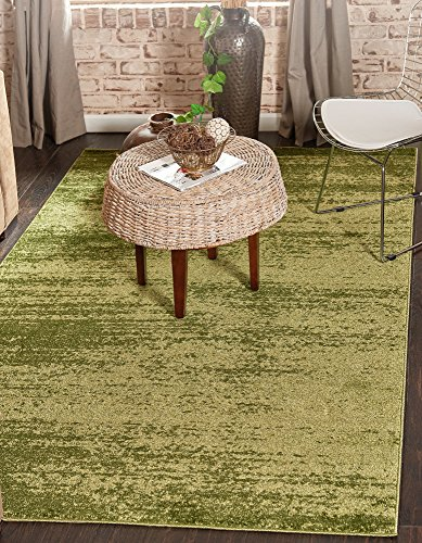 Unique Loom Del Mar Collection Contemporary Transitional Green Area Rug (5' 0 x 8' 0) ()