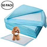 BEONE Increasing Thickness Super Absorbent Pet Dog Diaper, Dog Training Pee Pads, Disposable Healthy Nappy Mat For Dog Cat, Keep Healthy Clean Wet Mat (M=60 * 45 cm = 50 pieces)