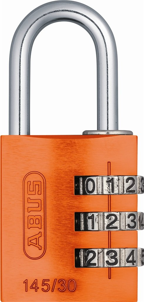 ABUS 145/30 Alumium Orange Combination Padlock