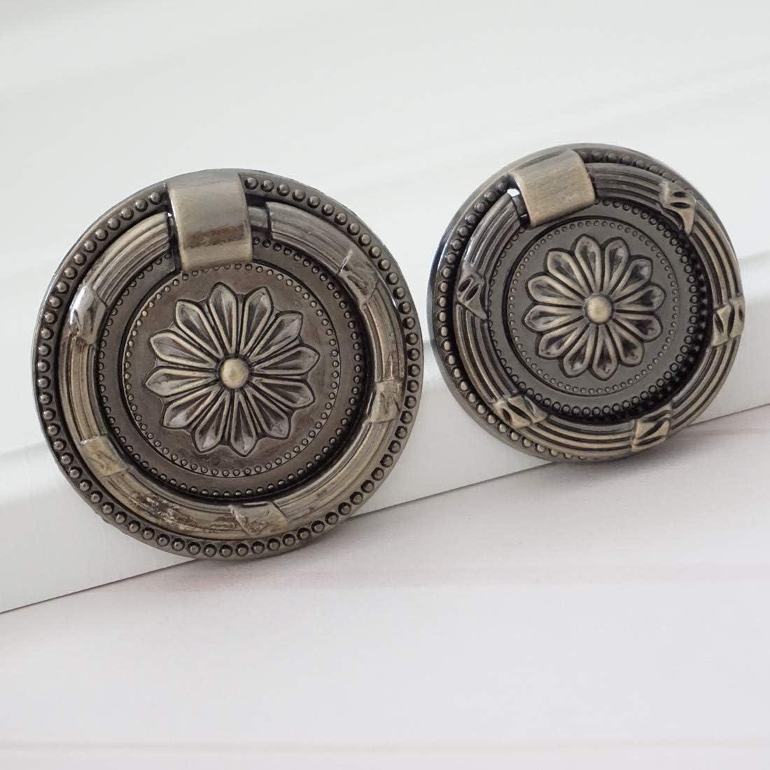 MOOD.SC-Tropfen-Ring Zuggriff Antike Bronze H/ängen Pulls Drawer Dresser-K/üche-Kabinett-Drehknopf T/ürbeschl/äge Griff ziehen,35mmDiameter