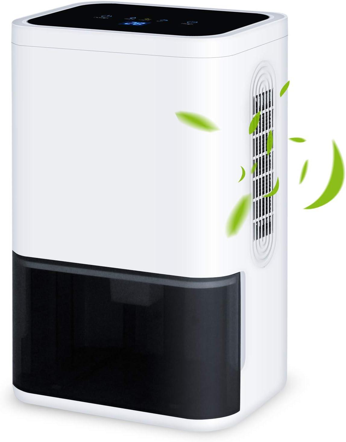 LUKO mini deshumidificador 600mL / día silencioso compacto y ...