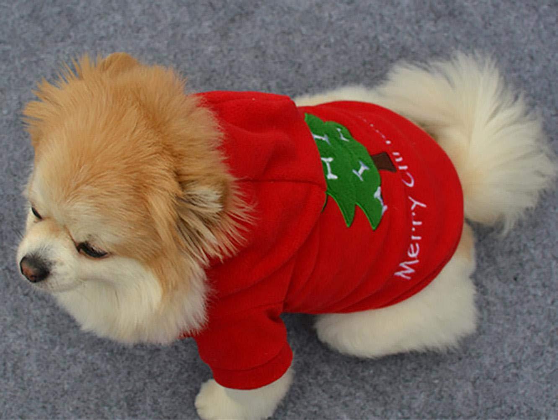 Ellaao Animali Domestici Costumi Natalizi Cani Gatti Costumi Costumi di Natale Animali Vestiti per Feste Articoli per Animali Domestici