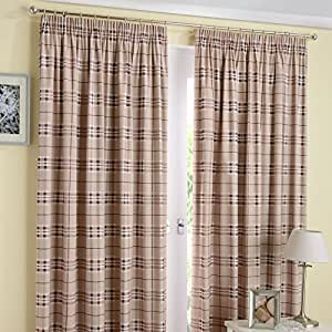 Enhanced Living Curtain Panel (Set of 2) Size: 117cm W x 183cm L, Colour: Latte by HOME-EXPRESSIONS