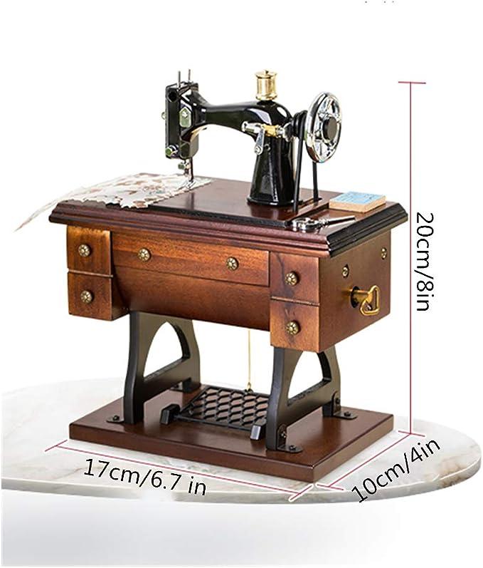Regalo de la Caja de música de la máquina de Coser; Vintage Mini ...