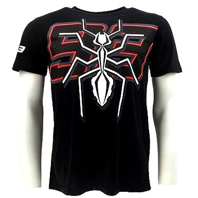 Marc Marquez 93 gran hormiga Moto GP camiseta negra oficial Nuevo