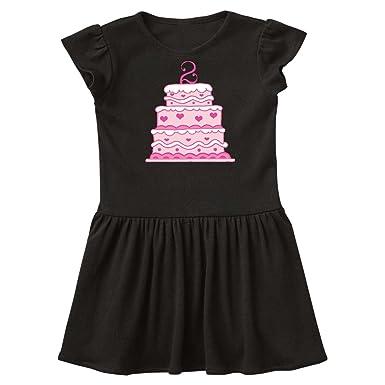 Amazon Com Inktastic 2nd Birthday Cake Toddler Dress 1baa2 Clothing