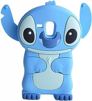 Bleu 3D Disney Stitch Étui Coque En Silicone Pour Samsung Galaxy S3 Mini i8190