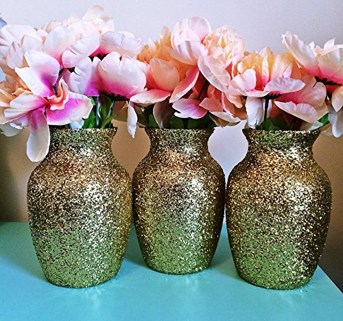 3-gold-glitter-glass-jardin-vases-wedding-centerpieces