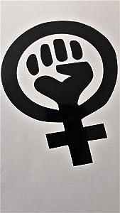 "Chase Grace Studio Feminism Symbol Feminist Woman Power Vinyl Decal Sticker|Black|Cars Trucks Vans SUV Laptops Wall Art|5.5"" X 4.5""|CGS626"
