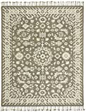 Stone & Beam Barnstead Floral Wool Area Rug, 4′ x 6′, Charcoal and Beige For Sale