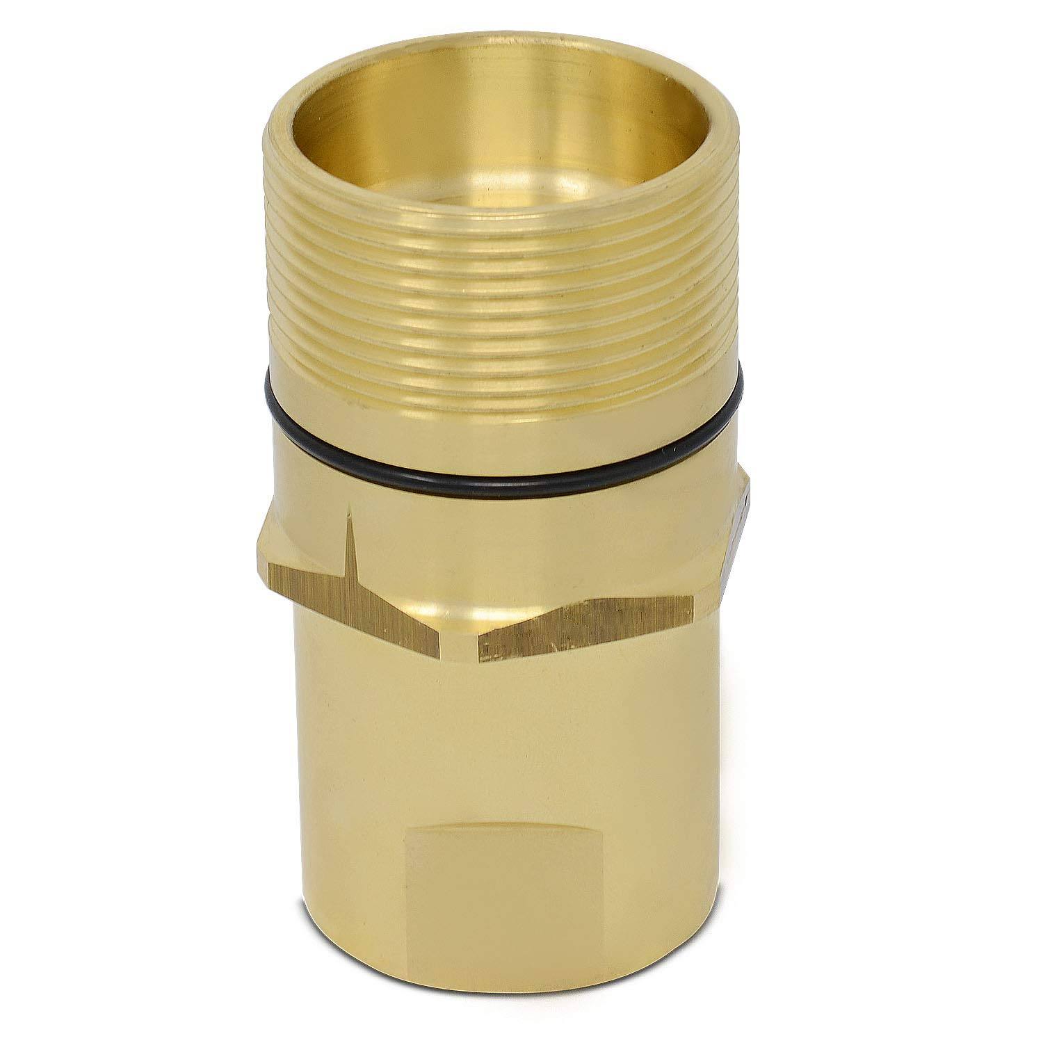 1″ NPT Wet-Line Wing Nut Hydraulic Quick Disconnect Male Coupler