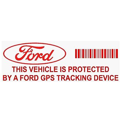 5 x ppfordgpsred GPS dispositivo de seguimiento de seguridad rojo pegatinas de ventana transparente, 87 x 30 mm-car, Van alarma Tracker