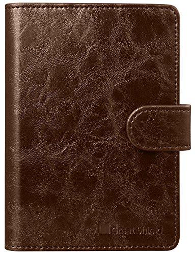 RFID Blocking Passport Holder (9 Slots), GreatShield Theft Proof Leather Wallet [5 Credit Card Slots | 3 Cash Compartments | 1 Passport Slot] for Men & Women – Brown by GreatShield (Image #7)