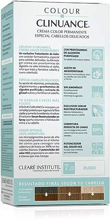 Colour Clinuance. Tinte Capilar Cabellos Delicados. 7.0 Rubio, Coloración Permanente Sin Amoniaco, Más Brillo, Color Intenso, 100% Cobertura, Testado ...
