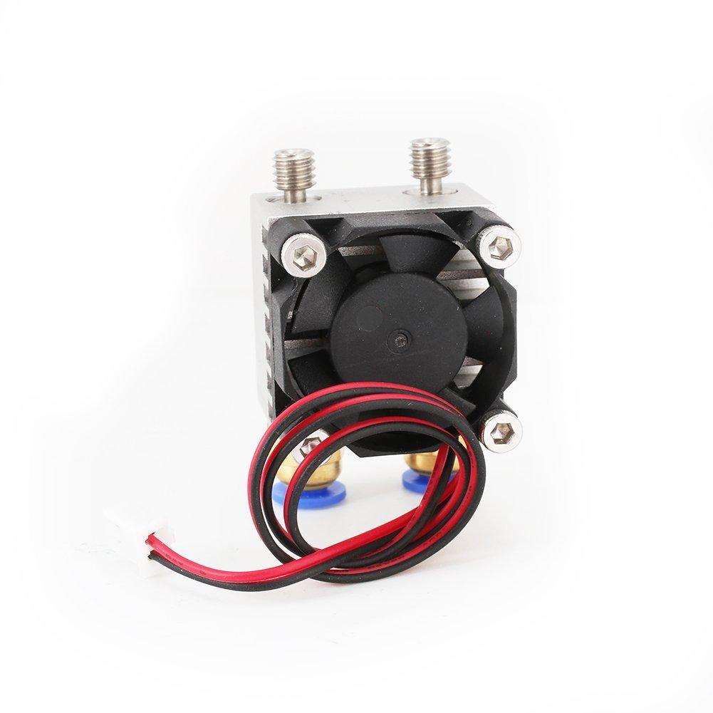 Boquilla doble para modelar impresoras 3D E3D V5V6 1,75 mm: Amazon ...