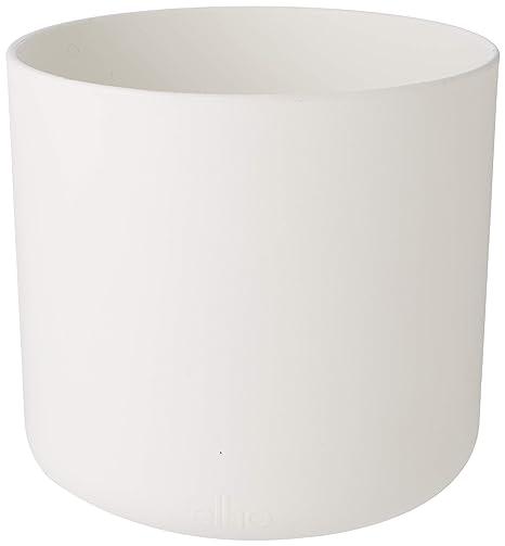 98fef442b11 Elho B.for Soft Round 14 - Flowerpot - White - Indoor - Ø 13.8 x H 12.5 cm   Amazon.co.uk  Garden   Outdoors