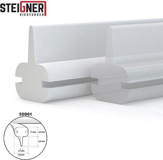 STEIGNER Joint de douche en silicone 130cm SDD01 blanc joint d/étanch/éit/é pour la protection contre les fuites deau