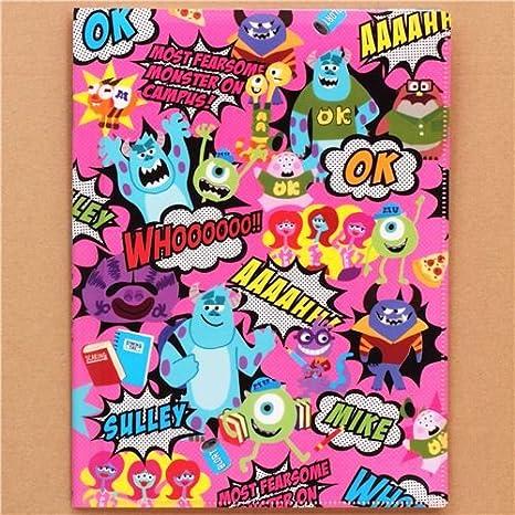 Carpeta A4 / A3 10 apartados rosa Monsters University Pixar ...