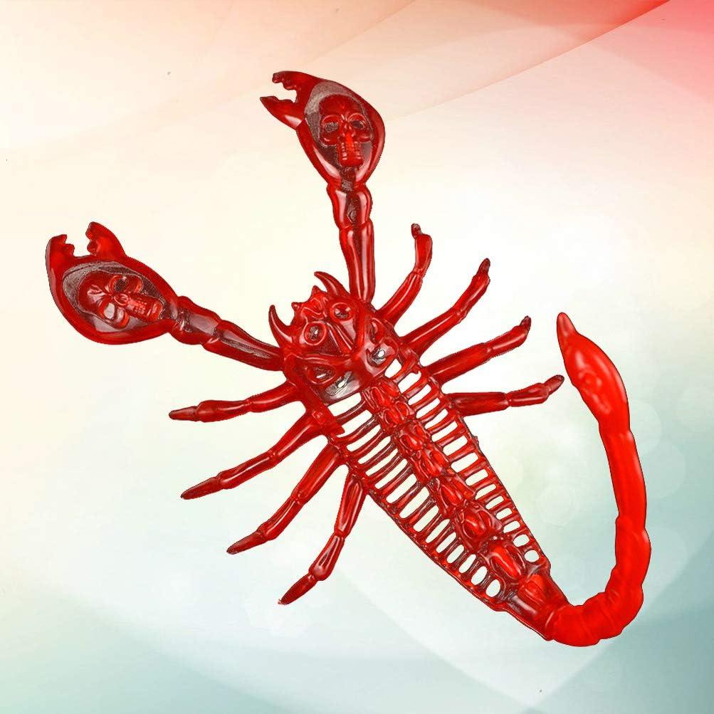 Rojo STOBOK Halloween Realista fallo pl/ástico Terrible escorpi/ón Modelo de simulaci/ón de escorpi/ón Falsos Animales realistas Juguete Broma para la decoraci/ón del Partido
