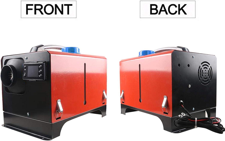 Riosupply Calentador De 5KW 12V//24V Interior De Autom/óvil Calentador De Aire LCD De Poco Ruido para Autom/óvil con Silenciador