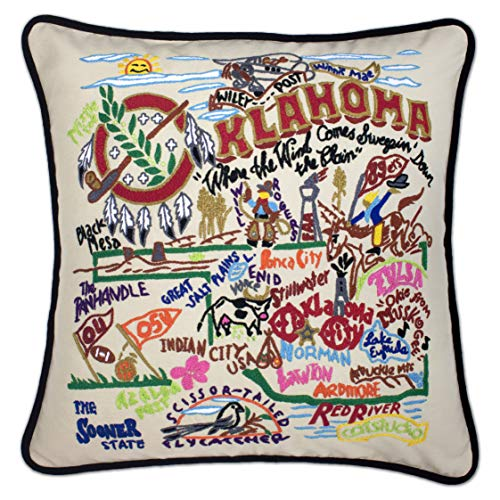Catstudio | Oklahoma Throw Pillow | Hand-Embroidered | 20