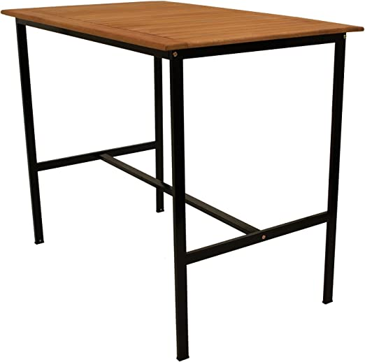 Pie mesa Darwin 135 x 85 cm, altura 113 cm, estructura de metal ...