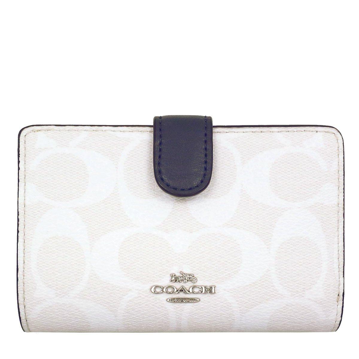 [コーチ] COACH 財布 (二つ折り財布) F23553 シグネチャー 二つ折り財布 レディース [アウトレット品] [並行輸入品] B07F8XBM3Z チョーク×ミッドナイト チョーク×ミッドナイト