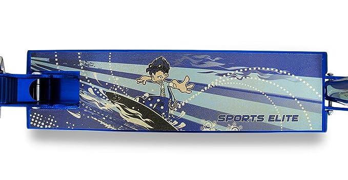 Amazon.com: Azul Dibujos Animados Surfer Luz Hasta patinete ...