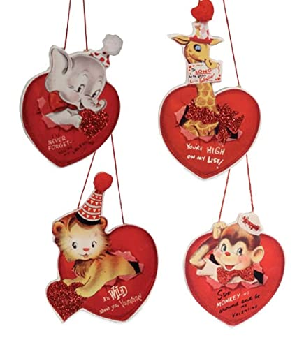 Amazon Com Bethany Lowe Wild About You Valentine S Day Ornaments