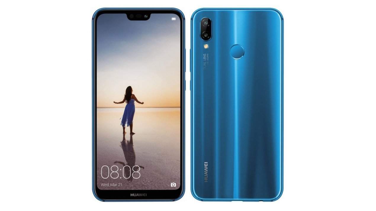 "Huawei P20 Lite Single SIM 4G 64GB Black, Blue - Smartphones (14.8 cm (5.84""), 64 GB, 16 MP, Android, 8.0 Oreo + EMUI 8.0, Black, Blue)"