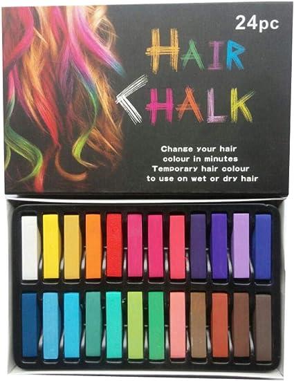 Colorhairs Tiza 24 Plumas de tiza para el cabello no tóxicas ...