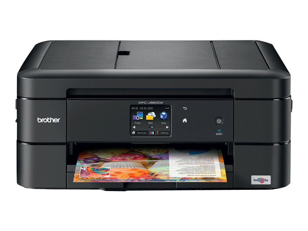 Brother MFC-J680DW All-in-One Color Inkjet Printer, Wireless Connectivity, Automatic Duplex Printing, Amazon Dash Replenishment Enabled Brother Printer