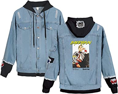 KPOP SuperM Jeans Hoodies Casual Denim Jacket para Hombres ...