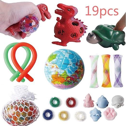 Amazon.com: Juego de juguetes sensoriales, 19 piezas de ...