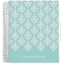 My Planner Colibri Damask Blue - 12 MESES - Sem Data - Layout Mensal, Semanal, com Financeiro e Habit Tracker