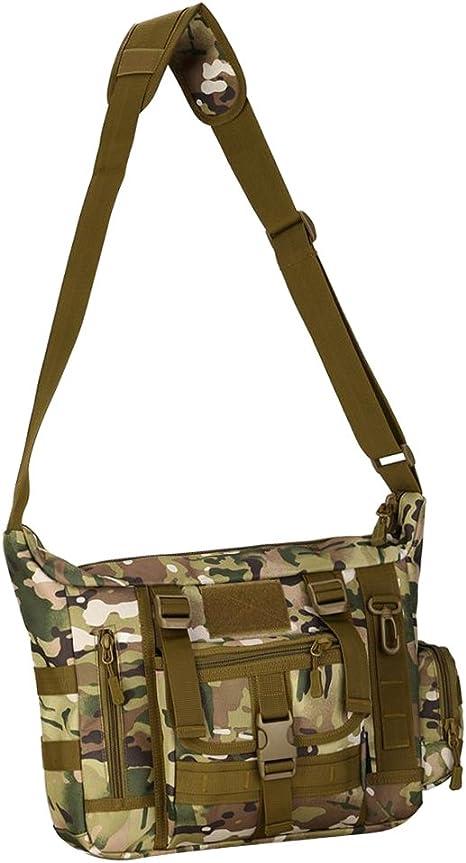 Toygogo Nylon 14 Pulgadas Laptop Messenger Shoulder Bag Maletín De Viaje Satchel Sling Pack Bag - CP Camo: Amazon.es: Deportes y aire libre