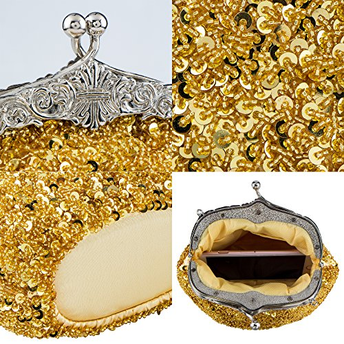 Clutches Shoulder Purses Vintage Women's Bagood Bag Handbag Gold Evening Bags 7wSxI0n0gq