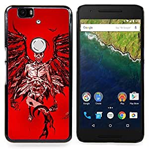 - Angel Death Red Blood Wings Skull - - Snap-On Rugged Hard Cover Case Funny HouseFOR Huawei Nexus 6P