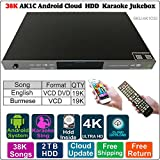 2TB HDD 38K Burmese/Myanmar,English Songs,Android Echo Karaoke Player,Songs Machine, Jukebox, Select Songs Both Via Mobile Device and Remote Controller AK1C