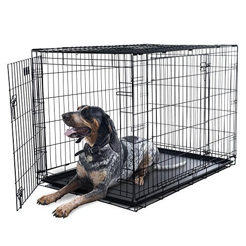 PETMAKER X-Large 2 Door Foldable Dog Crate Cage, 42 x 28
