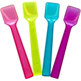 Frozen Dessert Supplies Mixed Transparent Gelato Spoons - 4 Inch Mini Plastic Taster Spoons for Sampling Food - Shovel Ice Cream Tasting Spoons - Beautiful Colors & Fast Shipping! 100 Count