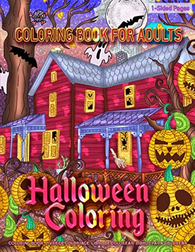 Halloween Coloring Pages Spiders (Coloring Book for Adults | Halloween Coloring: Coloring Book for Grown-Ups Featuring Spooky Halloween Coloring Page to Help Relieve Stress and Anxiety | Mindfulness Coloring)