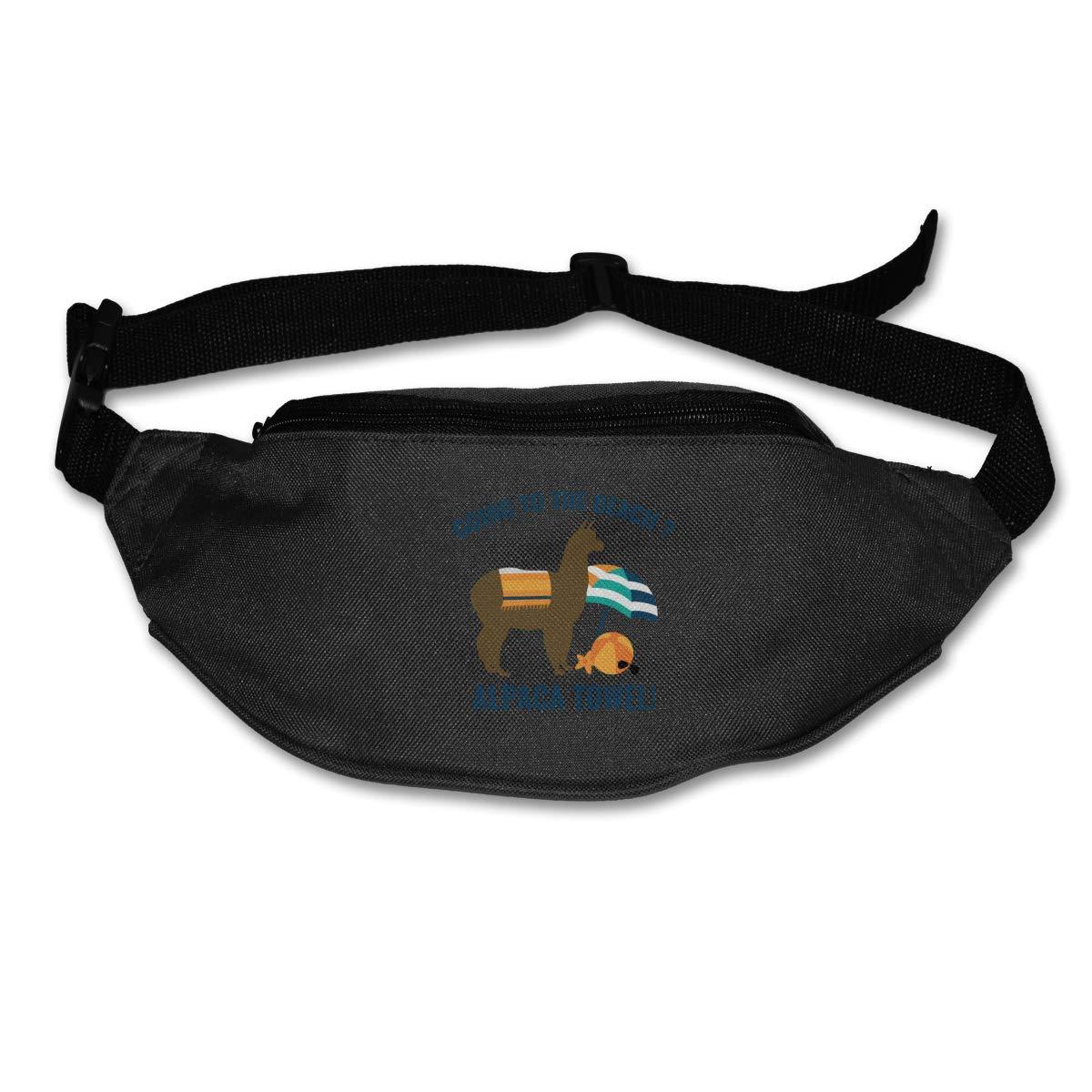 Going To The Beach Alpaca Towel Bag Waist Packs Fanny Pack Adjustable For Run