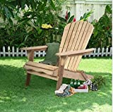 USA Premium Store Outdoor Foldable Fir Wood Adirondack Chair Patio Deck Garden Furniture