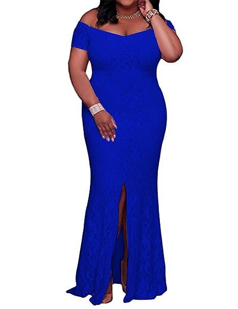 81657c23d41 YIRENWANSHA 2018 Off Shoulder Prom Party Maxi Dress for Women High Slit  Formal Gowns DPM011