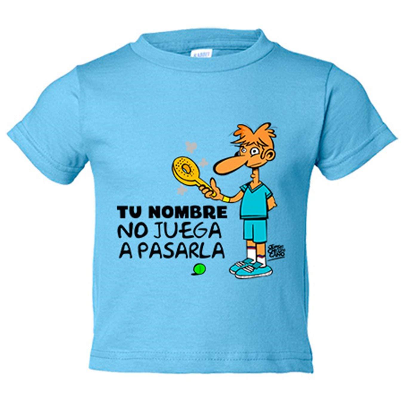 Camiseta niño Padel yo no juego a pasarla personalizable con ...