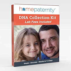 HomePaternity DNA Test Kit | Results in 2 Business Days | Lab Fees & Shipping to Lab Included |