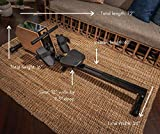 Mindful Living Solid Wood and Steel Rowing