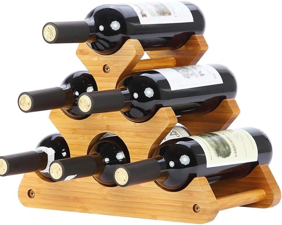 Home Storage Wine Racks Wine Rack Solid Wood Environmental Protection Material European Style Wine Rack Display Rack Home Living Room Wine Bottle Rack Wine Racks (Color : F) D
